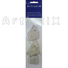 Amulet soapstone, mix colors Packing per 3 piece / with hole, appr. 5x3 cm
